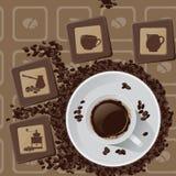 Caffè - illustrazione Fotografie Stock Libere da Diritti