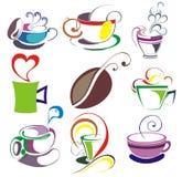 Caffè, insieme della tazza di tè illustrazione di stock