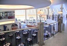 Caffè interno dal balcone Fotografia Stock