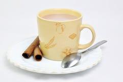 Caffè isolato su bianco Fotografia Stock
