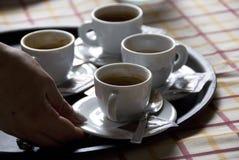 Caffè italiano servente Fotografie Stock