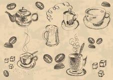 Caffè, icona, vettore, Fotografia Stock Libera da Diritti
