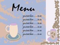 Menu per il ristorante, caffè, barra, caffè Fotografia Stock