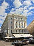 Caffè Landtmann del ristorante a Vienna immagine stock