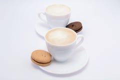 Caffè, latte e crema Immagine Stock Libera da Diritti
