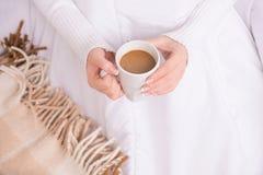 Caffè a letto Fotografia Stock Libera da Diritti