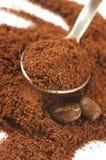 Caffè macinato e fagioli Immagine Stock Libera da Diritti
