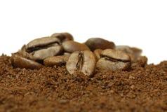 Caffè macinato fresco Fotografia Stock