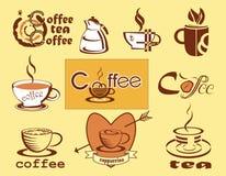 Caffè,   menu. icone. Fotografie Stock Libere da Diritti