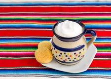 Caffè messicano e biscotti Fotografie Stock