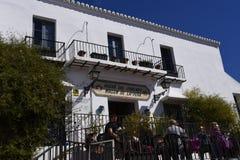 Caffè a Mijas nelle montagne sopra Costa del Sol in Spagna Fotografia Stock