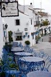 Caffè a Mijas nelle montagne sopra Costa del Sol in Spagna Immagine Stock
