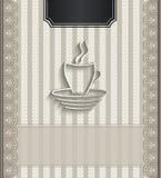 Caffè naturale della carta 3D del pizzo del ristorante del menu Fotografia Stock Libera da Diritti