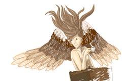 Caffè nel caffè - illustrazione della bevanda di angelo Fotografia Stock Libera da Diritti