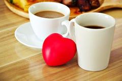Caffè nell'amore Immagine Stock