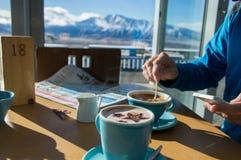 Caffè nelle montagne Fotografie Stock Libere da Diritti