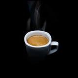 Caffè nero caldo Fotografia Stock Libera da Diritti