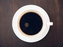 Caffè nero con zucchero in una tazza Fotografie Stock Libere da Diritti