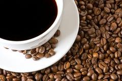 Caffè nero e fagioli Immagini Stock Libere da Diritti
