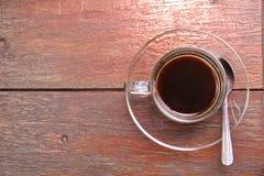 Caffè nero sulla tabella. fotografia stock