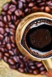 Caffè nero turco tradizionale fotografia stock