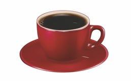 Caffè nero in una tazza rossa Fotografia Stock