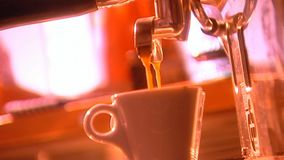 Caffè occupato stock footage
