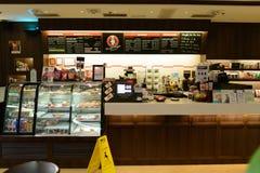 Caffè pacifico del caffè nell'aeroporto di Hong Kong International Fotografia Stock Libera da Diritti