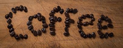 Caffè (parola) Fotografie Stock