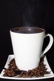 Caffè pieno di vapore caldo Fotografia Stock Libera da Diritti