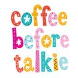 Caffè prima del tipo decorativo progettazione del talkie illustrazione vettoriale
