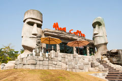 Caffè Rachaburee Tailandia di Moai Fotografia Stock