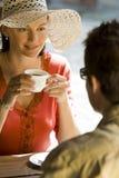 Caffè romantico Fotografia Stock Libera da Diritti