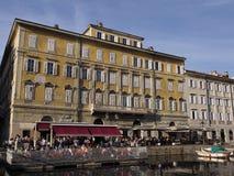 Caffè Rossini on the Canal Grande Stock Image