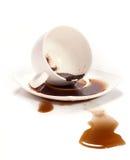 Caffè rovesciato Fotografia Stock Libera da Diritti