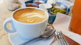 caffè sano del pane della frutta dell'alimento della prima colazione deliziosa dell'Israele Immagini Stock Libere da Diritti