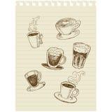 Caffè sketch1 Immagini Stock