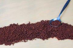 Caffè solubile e cucchiaino da tè Immagini Stock Libere da Diritti