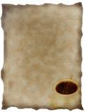 Caffè su tela di canapa Fotografia Stock
