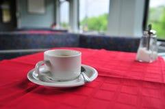 Caffè sul treno Fotografie Stock