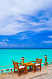 Caffè sulla spiaggia Fotografia Stock