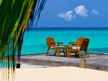 Caffè sulla spiaggia immagini stock