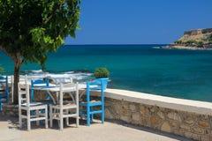 Caffè sulla spiaggia e sul randello di immersione subacquea Fotografie Stock