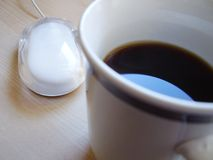 Caffè sullo scrittorio Fotografia Stock Libera da Diritti