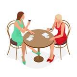 Caffè Tè bevente o caffè della bella ragazza in caffè Bellezza Woman di modello con la tazza della bevanda calda Colori caldi Fotografie Stock