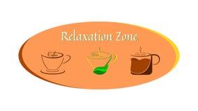 Caffè, tè, cioccolato - una buona bevanda per si rilassa, salute ed energia illustrazione vettoriale