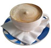 Caffè in tazza blu 2 immagini stock