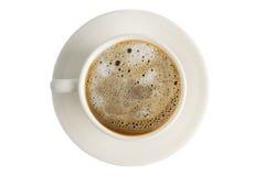 Caffè, tazza di caffè sul fondo dell'isolato Fotografie Stock Libere da Diritti