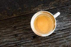 Caffè, tazza, tazza di caffè su una tavola di legno Fotografie Stock