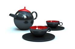 Caffè/teiera ceramici fotografie stock